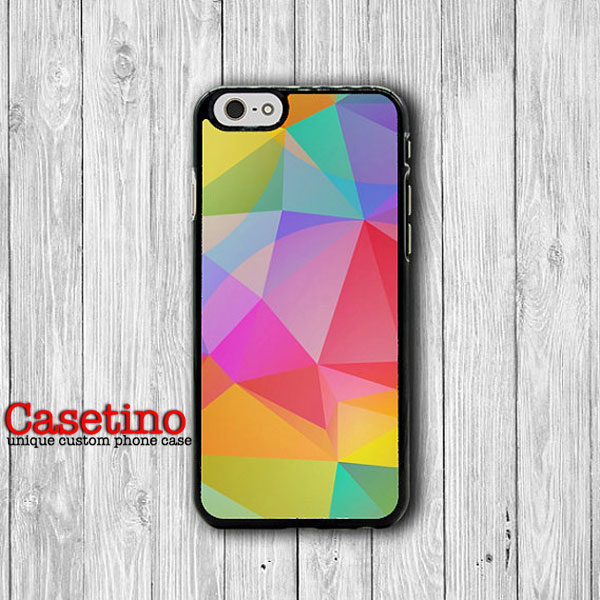Geometric Colorful Triangle Abstract Shape iPhone 6S iPhone 6 Case iPhone 5S Cover iPhone 4 / 4S Personalized Customized Color Transparent#1-100