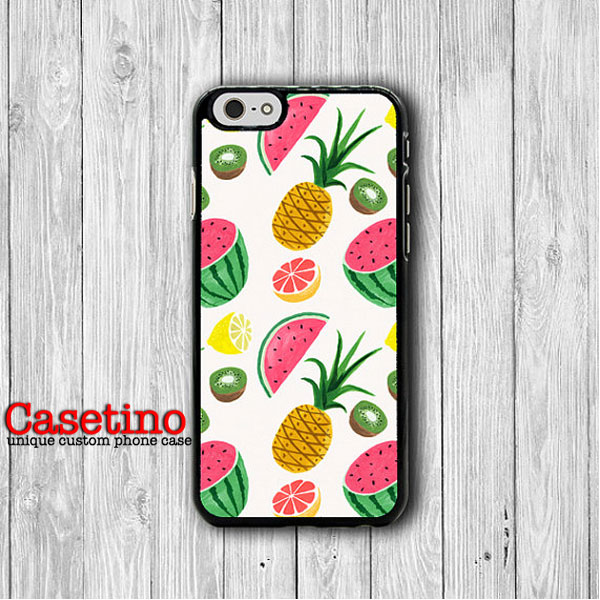 separation shoes fdfc8 e5483 Tropical Fruit Watermelon Pineapple IPhone 6 / 6S Cover, Hawaii IPhone 6  Plus, IPhone 5S, IPhone 4S Funny Case, Rubber Deco Accessories Gift#1-130