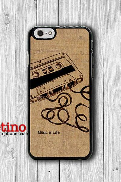 Vintage Memory Cassette Tape iPhone 6 Cases, iPhone 6 Plus Cover, Parchment Phone 5/5S, iPhone 4/4S Hard Case, Rubber Deco Accessories Gift#1-106