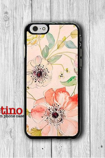 Vintage Pink Floral iPhone 6 Cases, Flower Chinese Rose iPhone 6 Plus Cover, Phone 5/5S, iPhone 4/4S Hard Case, Rubber Deco Accessories Gift#1-114