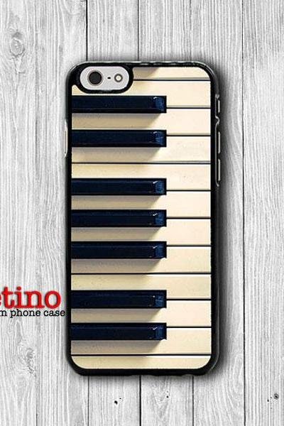 Vintage Classic Piano Key iPhone 6 Cover, Music iPhone 6 Plus, iPhone 5/5S, iPhone 4/4S Hard Case, Rubber Deco Accessories Gift Music Lover#1-117