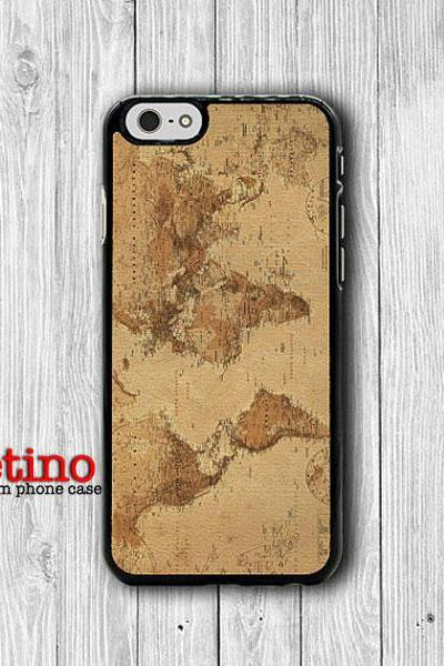 iPhone 6 Case - Vintage Old World Map Atlas Drawing Phone 6 Plus, iPhone 5S Parchment iPhone 5 Case, iPhone 5C Case, iPhone 4S, iPhone 4#1-118