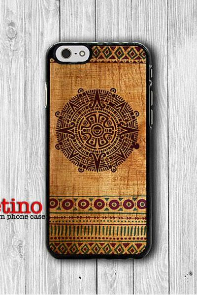 Aztec Mayan Tribal Wooden iPhone 6 Cases, Seamless Pattern Art iPhone 6 Plus, Phone 5/5S, iPhone 4/4S Hard Case, Accessories Design Gift#1-119