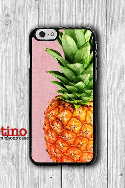 PINK Pineapple Printed Wood iPhone CASES, Tropical FRUIT iPhone 6, iPhone 6 Plus, iPhone 5 Hard Case, Soft Silicon, Plastic Accessorie Woman#1-121
