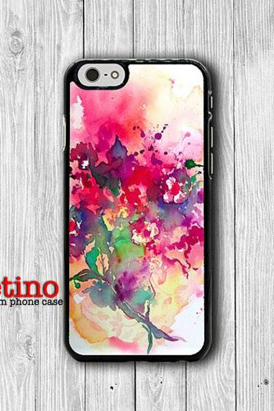Abstract Art Rose Flower Painting Floral iPhone Case - iPhone 6, iPhone 6 Plus, iPhone 5S, iPhone 5 Case, iPhone 5C, iPhone 4S Watercolor#1-124