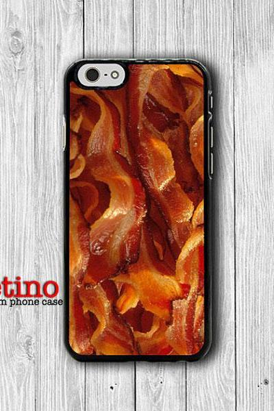 Smoky Fried Bacon Lover iPhone 6 Cases, Delicious Food Fat Phone 6 Plus Cover, Phone 5/5S, iPhone 4/4S Hard Case, Lovely Accessories Gift#1-126