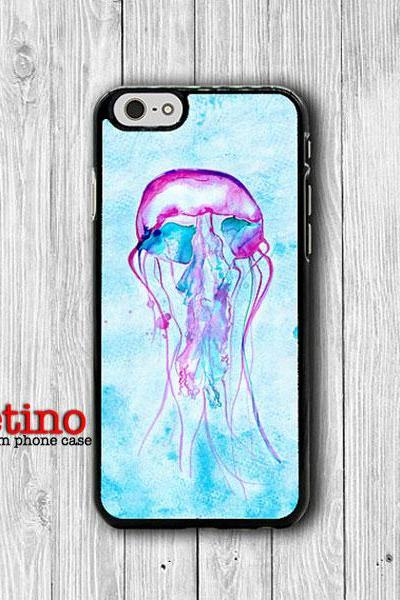 Watercolor Art Jelly Fish Painting iPhone 6 Cases iPhone 6 Plus, iPhone 5S, iPhone 5 Case, iPhone 5C Case, iPhone 4/4S Accessories Christmas#1-128