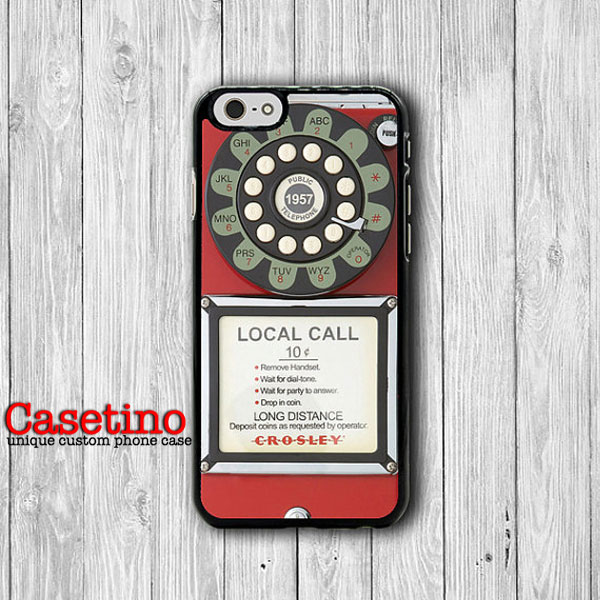 1950 Retro Vintage Red PAYPHONE Old Fashioned Classic iPhone 6S Case iPhone 5/5S iPhone 4/4S Electronics Cases Christmas Gift iPhone 6 Plus#1-132